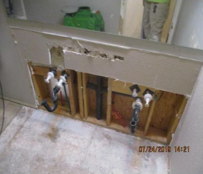 Water Damage To Avondale Bathroom Vanity After