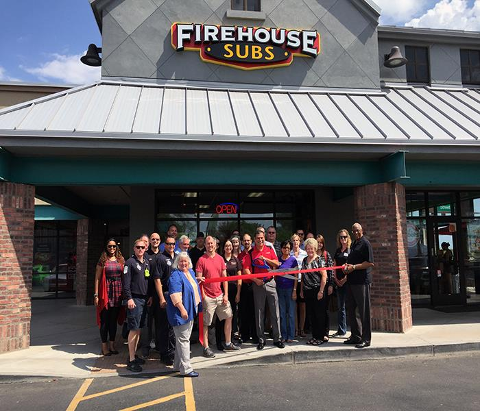Ribbon-cutting event at new Firehouse Sub location