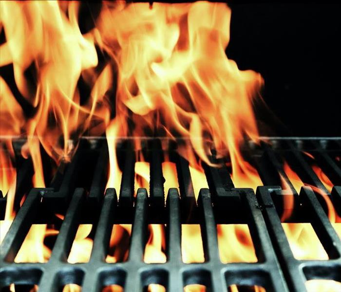 Picture of flames in grill